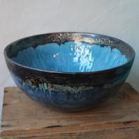 Saladier céramique bleu