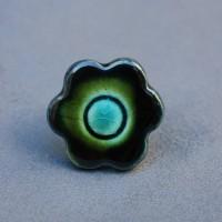 Bague céramique fleur