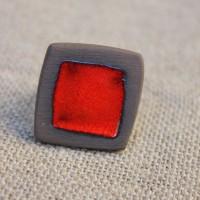 Bague céramique carrée