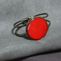 Bracelet céramique rouge