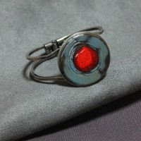 Bracelet céramique pois rouge