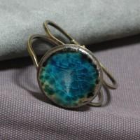 Bracelet céramique dégradé de bleus